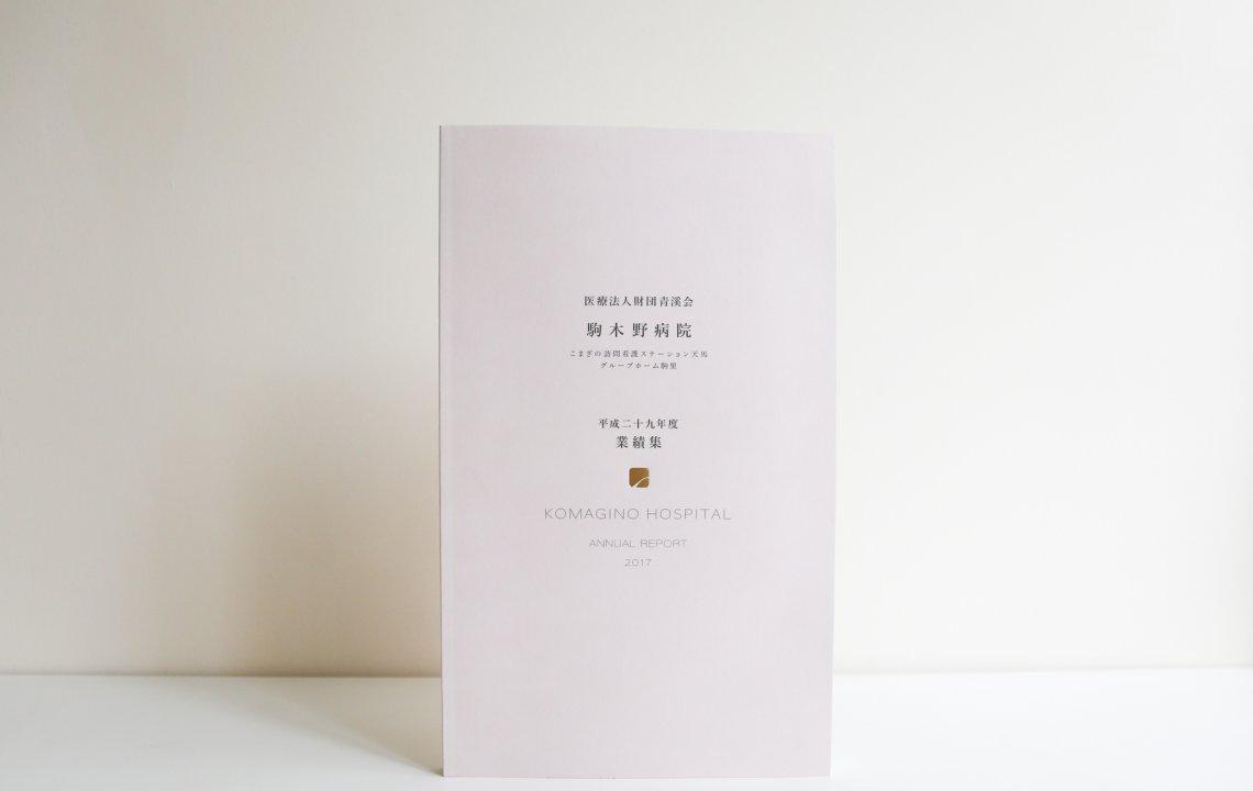ホームページ・印刷物制作事例:駒木野病院 | 平成29年度業績集